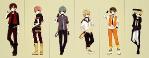 Rating: Safe Score: 34 Tags: all_male an_(anzu_o6v6o) black_eyes blonde_hair blue_hair boots dualscreen genderswap gloves goggles green_hair group gumiya hatsune_mikuo headphones kagamine_rinto lily_(vocaloid) male megurine_luki meito pink_hair red_hair short_hair tie vocaloid User: STORM