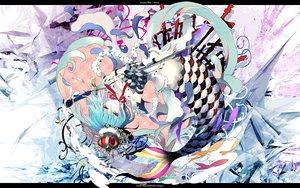 Rating: Safe Score: 106 Tags: animal blue_eyes blue_hair choker fish gin_(oyoyo) mahou_shoujo_madoka_magica mermaid miki_sayaka necklace sword tears weapon User: opai