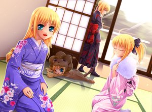 Rating: Safe Score: 23 Tags: artoria_pendragon_(all) fate/hollow_ataraxia fate_(series) fate/stay_night fate/tiger_colosseum fate/unlimited_codes japanese_clothes kimono saber saber_alter saber_lily User: HawthorneKitty