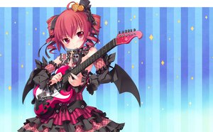 Rating: Safe Score: 131 Tags: blue blush guitar hat hintei_megane instrument jpeg_artifacts kasane_teto long_hair pink_hair tagme utau User: Katsumi