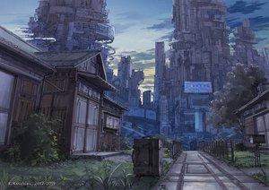 Rating: Safe Score: 22 Tags: building clouds grass k_kanehira original scenic sky sunset watermark User: otaku_emmy