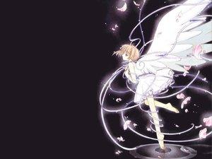 Rating: Safe Score: 18 Tags: black card_captor_sakura kinomoto_sakura petals ribbons wings User: Oyashiro-sama