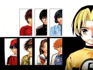 Rating: Safe Score: 3 Tags: all_male black_hair blonde_hair blue_eyes blue_hair brown_eyes brown_hair fujisaki_akari fujiwara_no_sai glasses gray_eyes group hat hikaru_no_go kaga_tetsuo long_hair male mitani_yuki orange_eyes orange_hair red_eyes red_hair school_uniform shindou_hikaru short_hair touya_akira tsutsui_kimihiro waya_yoshitaka User: Oyashiro-sama