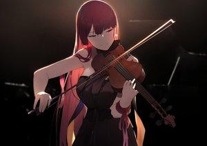 Rating: Safe Score: 144 Tags: anthropomorphism brown_eyes dark dress girls_frontline instrument isaka_wasabi long_hair red_hair violin wa2000_(girls_frontline) User: BattlequeenYume