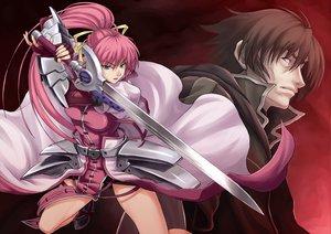 Rating: Safe Score: 31 Tags: mahou_shoujo_lyrical_nanoha mahou_shoujo_lyrical_nanoha_strikers pink_hair signum sword weapon User: HawthorneKitty