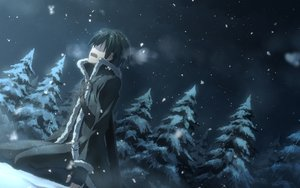 Rating: Safe Score: 282 Tags: all_male gloves kirigaya_kazuto male night sky snow sword_art_online tree winter yuuki_tatsuya User: Flandre93