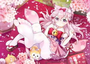 Rating: Safe Score: 92 Tags: animal animal_ears anthropomorphism azur_lane bell blush catgirl cherry_blossoms dog flot flowers food japanese_clothes kisaragi_(azur_lane) loli lolita_fashion pantyhose petals pink_eyes pink_hair sakura_kusaki tail tears yukata User: Nepcoheart