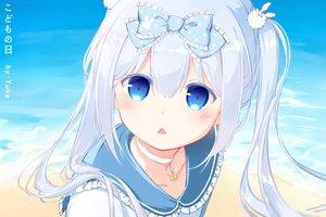 Rating: Safe Score: 67 Tags: blue_eyes blue_hair blush bow choker close fang loli long_hair parody sailor_moon tagme_(character) twintails water watermark yuka_(x201815071) User: sadodere-chan