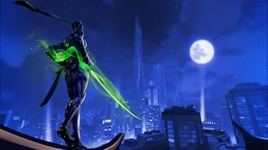 Rating: Safe Score: 31 Tags: all_male building city genji_(overwatch) h@ge male moon night overwatch User: FormX