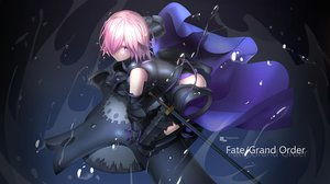 Rating: Safe Score: 68 Tags: armor fate/grand_order fate_(series) gloves magicians mash_kyrielight pink_hair purple_eyes short_hair water watermark User: Nepcoheart