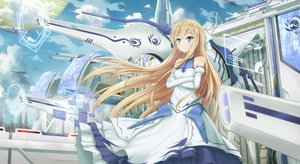 Rating: Safe Score: 39 Tags: asakurashinji blonde_hair blue_eyes clouds dress flat_chest long_hair rokujyouma_no_shinryakusha User: Flandre93