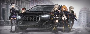 Rating: Safe Score: 150 Tags: anthropomorphism baek_hyang boots building car city g11_(girls_frontline) girls_frontline gloves gray_hair green_eyes group gun hat headband hk416_(girls_frontline) kneehighs orange_eyes orange_hair pantyhose ponytail scar school_uniform signed skirt sleeping snow tattoo twintails ump-40_(girls_frontline) ump-45_(girls_frontline) ump-9_(girls_frontline) weapon yellow_eyes zettai_ryouiki User: BattlequeenYume