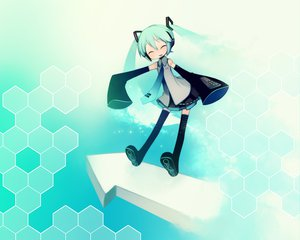 Rating: Safe Score: 33 Tags: cyan hatsune_miku puti_devil vocaloid User: atlantiza
