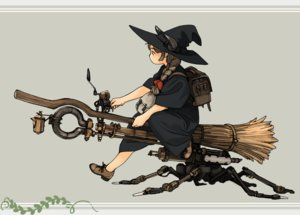 Rating: Safe Score: 50 Tags: akai_sashimi braids dress gray_hair hat horns long_hair mecha original ponytail witch witch_hat User: otaku_emmy