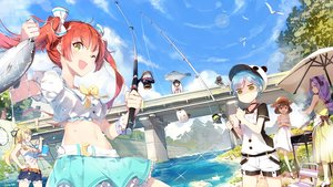 Rating: Safe Score: 65 Tags: animal aqua_hair blonde_hair bow breasts brown_eyes brown_hair bubbles clouds cornelia_(girl_cafe_gun) dress fang fish food girl_cafe_gun_(game) green_eyes group hat headband juno_emmons kikuri_yuki lf long_hair navel nora_moon orange_hair pink_eyes ponytail purple_hair rococo_(girl_cafe_gun) short_hair shorts skirt sky summer_dress su_xiaozhen twintails waifu2x User: RyuZU