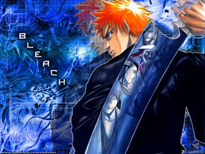 Rating: Safe Score: 6 Tags: all_male bleach ichimaru_gin kuchiki_byakuya kurosaki_ichigo kurotsuchi_mayuri male orange_hair sword weapon zaraki_kenpachi User: Oyashiro-sama