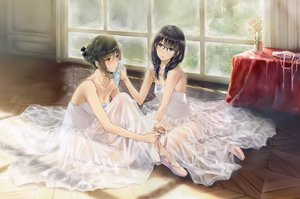 Rating: Safe Score: 71 Tags: black_hair blush breasts cleavage dress flowers_(game) glasses innocent_grey scan see_through short_hair sugina_miki User: mattiasc02