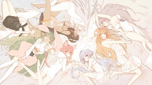 Rating: Safe Score: 85 Tags: animal_ears ass barefoot black_hair blue_eyes blue_hair blush breasts brown_eyes brown_hair catgirl cleavage dark_skin dress futoshi_ame gray_hair green_eyes green_hair group hoodie japanese_clothes loli long_hair original pink_hair pointed_ears see_through sleeping tail thighhighs twintails yellow_eyes User: BattlequeenYume