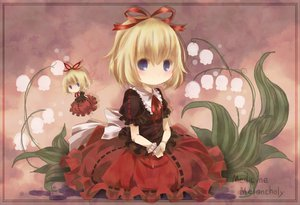 Rating: Safe Score: 58 Tags: blonde_hair blue_eyes bow flowers medicine_melancholy short_hair su-san touhou toutenkou wings User: PAIIS