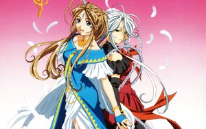 Rating: Safe Score: 15 Tags: aa_megami-sama belldandy brown_hair feathers long_hair urd white_hair User: Eruku