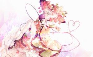 Rating: Safe Score: 66 Tags: choker dress flowers green_eyes hat komeiji_koishi lolita_fashion short_hair timins touhou watermark white white_hair wristwear User: BattlequeenYume