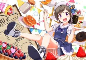 Rating: Safe Score: 40 Tags: blush brown_hair cake drink food fruit gamyuu_(gamyu) hat original purple_eyes school_uniform short_hair skirt strawberry User: RyuZU