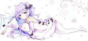 Rating: Safe Score: 88 Tags: animal anthropomorphism azur_lane dress horse long_hair purple_eyes purple_hair thighhighs tsukiyo_(skymint) unicorn unicorn_(azur_lane) User: mattiasc02