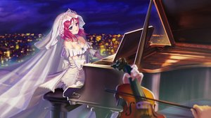 Rating: Safe Score: 98 Tags: building city instrument love_live!_school_idol_project night nishikino_maki piano purple_eyes red_hair scenic tiara ushas violin wedding_attire User: luckyluna