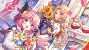 Rating: Safe Score: 42 Tags: animal_ears braids building cat_smile fang flowers jiang-ge loli long_hair pink_hair ponytail ragnarok_online tagme_(character) User: BattlequeenYume