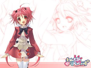 Rating: Safe Score: 5 Tags: momose_hikaru peace@pieces red_eyes red_hair thighhighs User: ZakuWarrior