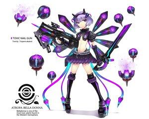 Rating: Safe Score: 177 Tags: gia gun original purple_eyes short_hair sword thighhighs weapon User: Wiresetc