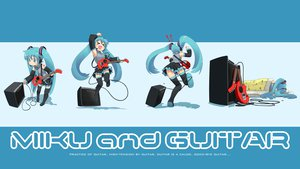 Rating: Safe Score: 65 Tags: guitar hatsune_miku instrument nagian parody twintails vocaloid User: rargy