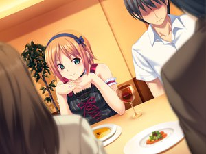 Rating: Safe Score: 91 Tags: food game_cg green_eyes koutaro minazuki_izumi orange_hair tropical_kiss User: Wiresetc