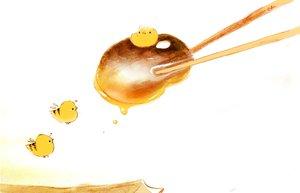 Rating: Safe Score: 44 Tags: animal bird chai_(artist) food honey original polychromatic signed User: otaku_emmy