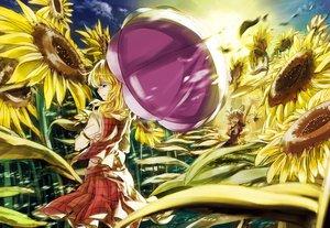 Rating: Safe Score: 61 Tags: flowers kazami_yuuka medicine_melancholy rongyuedd sunflower su-san touhou umbrella User: FormX