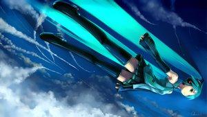 Rating: Safe Score: 75 Tags: clouds hatsune_miku headphones observerz sky vocaloid User: anaraquelk2