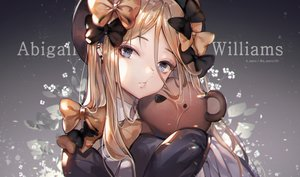 Rating: Safe Score: 88 Tags: abigail_williams_(fate/grand_order) blonde_hair blue_eyes bow close fate/grand_order fate_(series) gradient hat long_hair teddy_bear unity_(ekvmsp02) watermark User: BattlequeenYume