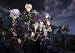 Rating: Safe Score: 61 Tags: armor blonde_hair book bow building clouds dress elise_(fire_emblem) eyepatch fire_emblem fire_emblem_fates fire_emblem_if gray_hair group headband leo_(fire_emblem) male niles_(fire_emblem) odin_dark_(fire_emblem) pink_eyes ra-bit red_eyes short_hair sky tagme_(character) thighhighs User: RyuZU
