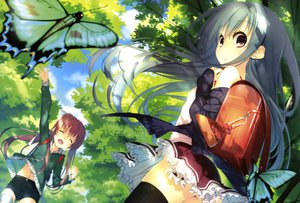 Rating: Safe Score: 139 Tags: butterfly dengeki_moeoh kagome original thighhighs User: Wiresetc