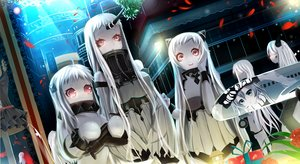 Rating: Safe Score: 152 Tags: airfield_hime anthropomorphism ginhaha kantai_collection northern_ocean_hime seaport_hime wo-class_aircraft_carrier User: FormX