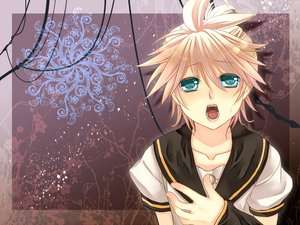 Rating: Safe Score: 3 Tags: all_male aqua_eyes blonde_hair kagamine_len male vocaloid User: konchankitty