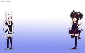 Rating: Safe Score: 278 Tags: 2girls animal_ears bell black_hair blue_eyes blush catgirl cat_smile chocola_(sayori) collar flat_chest flowers gloves goth-loli gradient loli lolita_fashion long_hair nekopara neko_works orange_eyes ribbons rose sayori short_hair tail thighhighs third-party_edit vanilla_(sayori) white_hair zettai_ryouiki User: SciFi