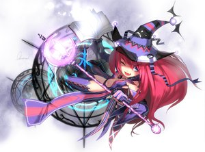 Rating: Safe Score: 116 Tags: blue_eyes book dragon_nest elbow_gloves fang gloves hat long_hair magic navel necklace observerz red_hair sorceress_(dragon_nest) staff thighhighs wink witch User: HawthorneKitty