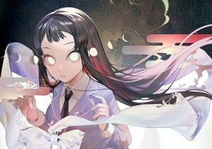 Rating: Safe Score: 46 Tags: black_hair bow long_hair marchen_madchen moon ribbons seifuku tie tsuchimikado_shizuka wntame User: otaku_emmy