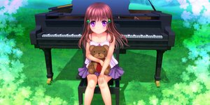 Rating: Safe Score: 33 Tags: brown_hair loli moonknives original purple_eyes teddy_bear User: gnarf1975