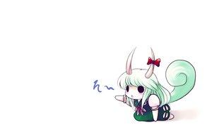 Rating: Safe Score: 26 Tags: chibi ex_keine kamishirasawa_keine tail touhou white yume_shokunin User: SciFi