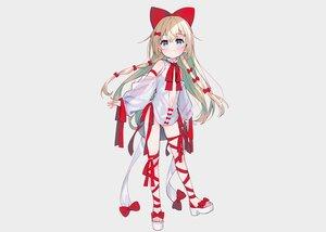 Rating: Safe Score: 28 Tags: aqua_eyes blonde_hair blush bow dress fang gray loli long_hair meito_(maze) navel original ribbons see_through User: otaku_emmy