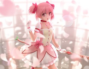 Rating: Safe Score: 67 Tags: 3d bow_(weapon) choker dress gloves kaname_madoka mahou_shoujo_madoka_magica necklace pink_eyes pink_hair siraha twintails weapon User: Flandre93