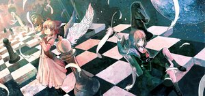 Rating: Safe Score: 58 Tags: bow dress gengetsu moon organ_derwald rumia tagme touhou wings User: opai