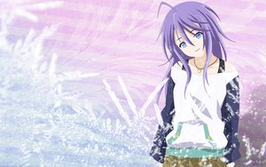 Rating: Safe Score: 116 Tags: blue blue_eyes necklace pink purple_hair rosario+vampire shirayuki_mizore skirt User: 秀悟